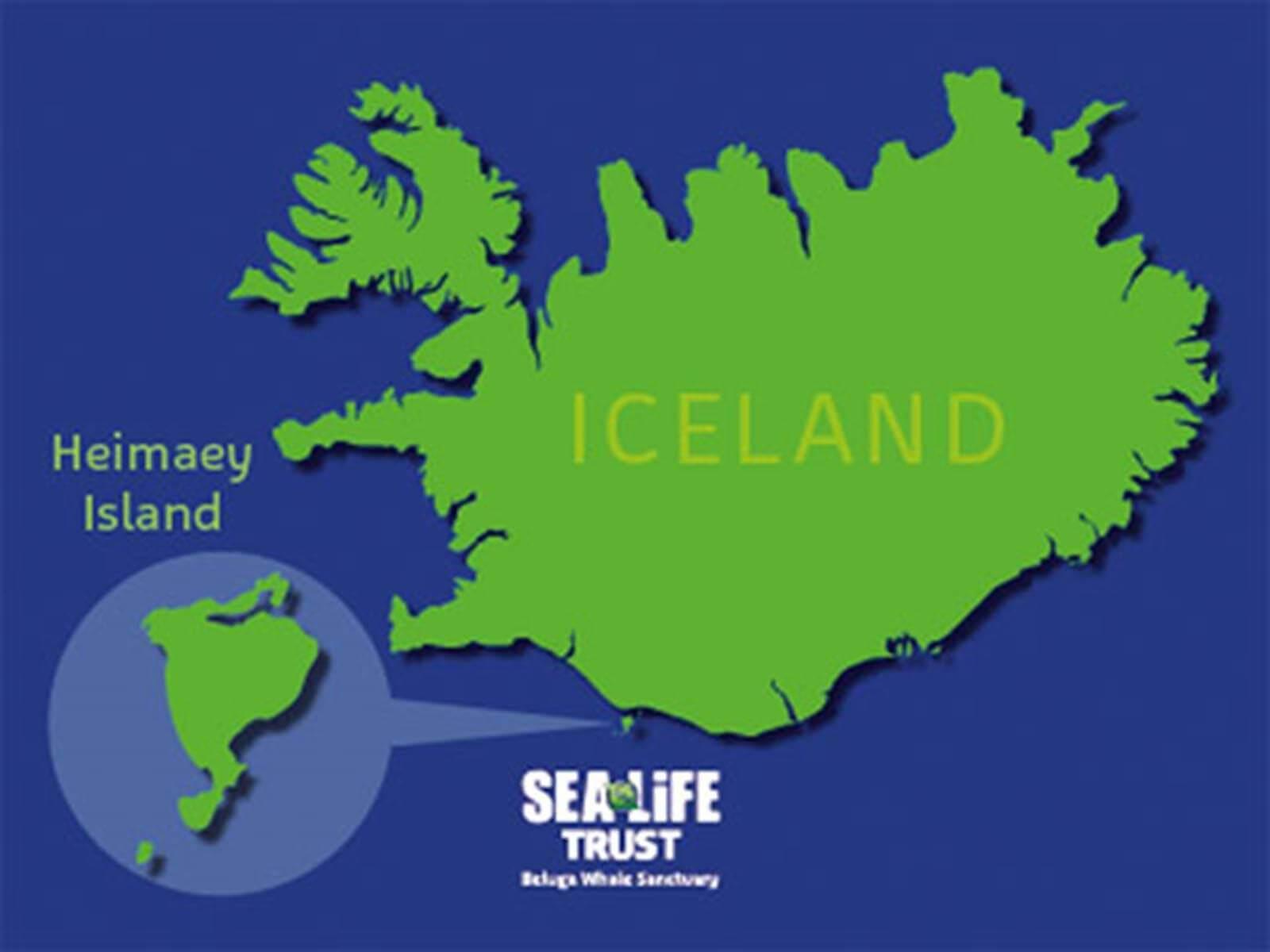 Carte de la baie par rapport à l'Islande