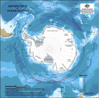 Carte de l'antarctique