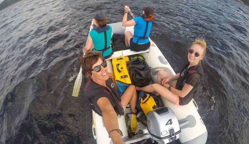 L'équipe de recherche de la baie Sainte-Marguerite