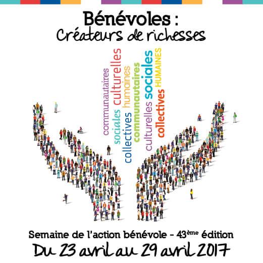 Affiche de la semaine de l'action bénévole