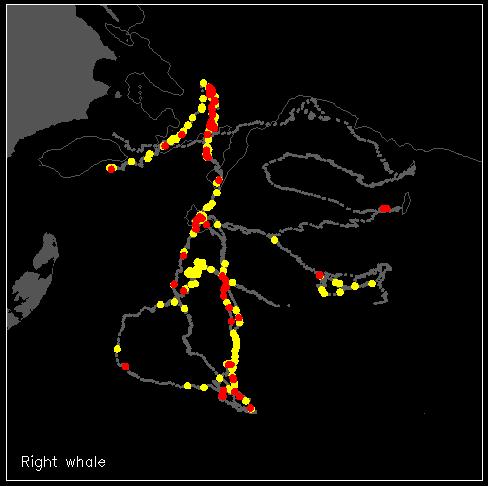 Carte représentant les déplacements du sous-marin téléguidé