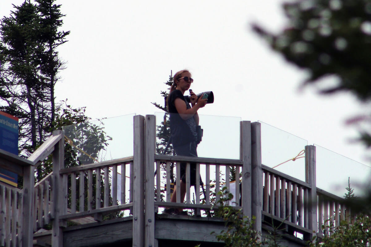 Laurence Tremblay with a camera