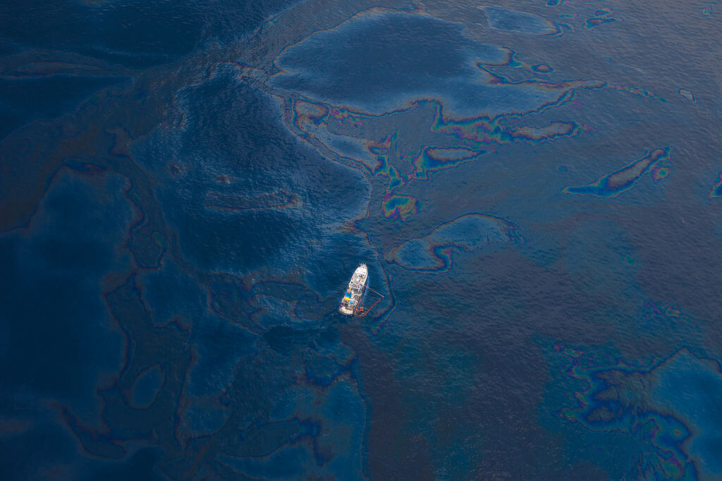 Accidental spill in the gulf of Mexico