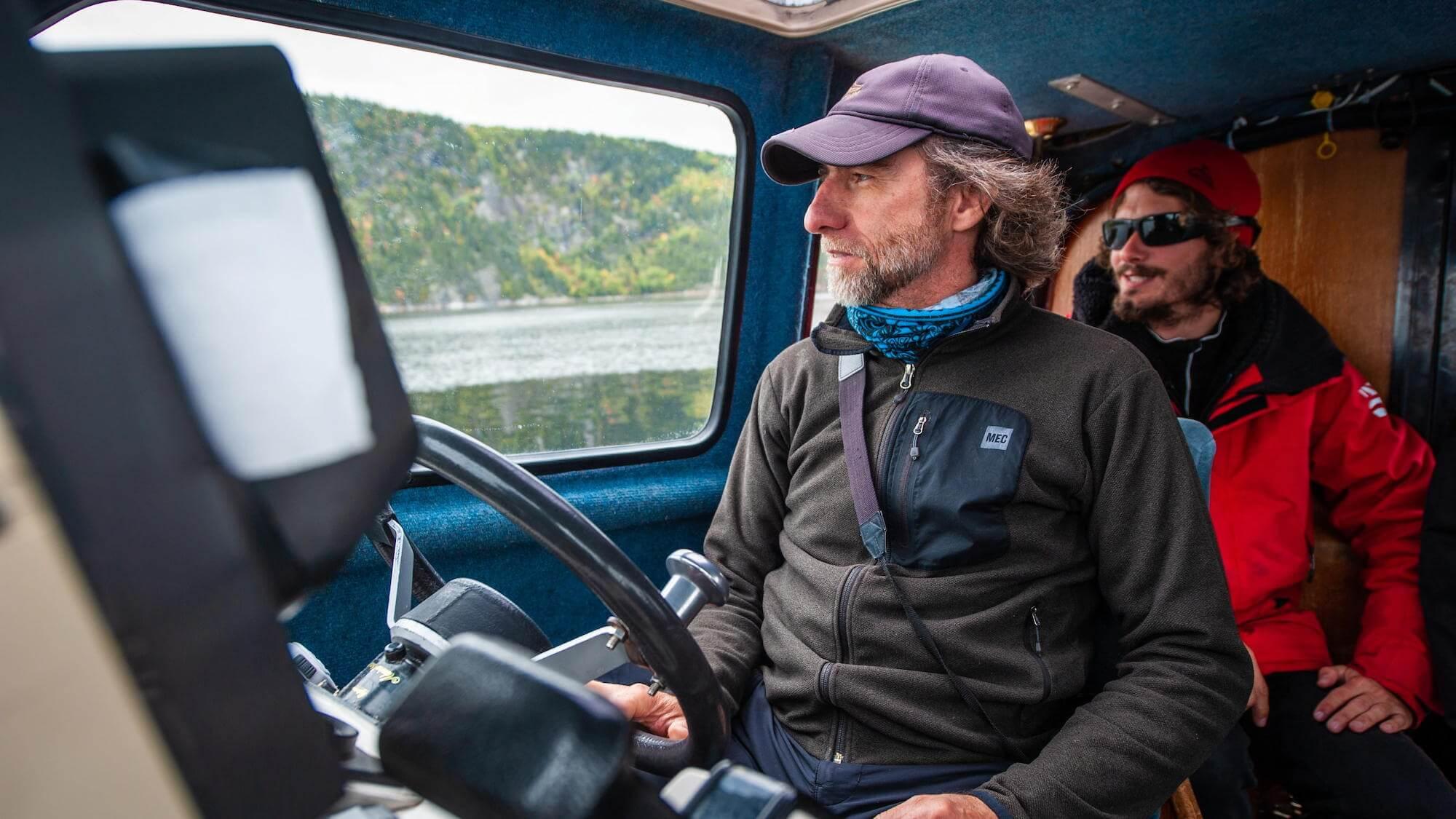 Michel à bord du Bleuvet.
